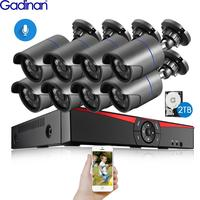 Gadinan 8CH 4MP HDMI POE NVR комплект CCTV система безопасности 4.0MP 3.0MP наружная аудио запись ip-камера комплект видеонаблюдения 2 ТБ HDD