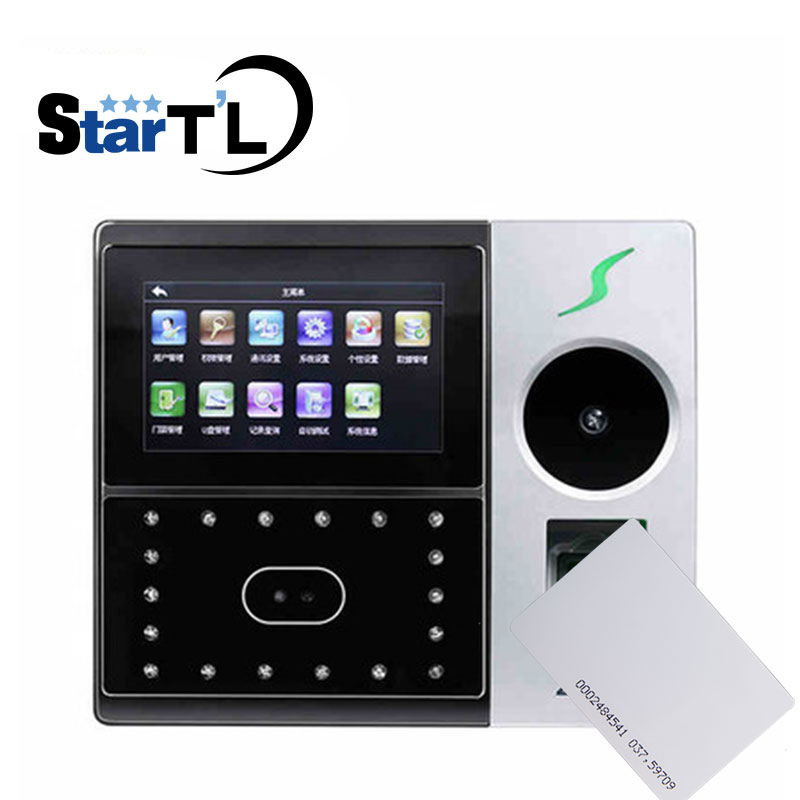 IFace702-P Facial Recognition Biometric Fingerprint Time Attendance And RFID 125Khz Card Door Access Control