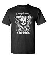 Okoufen Пользовательские Футболка дизайнер защищать Liberty череп 2nd вторая поправка-Мужская хлопковая футболка одежда на день рождения футболки