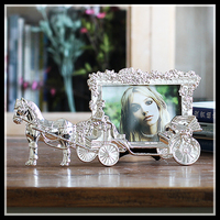 Classic Horse Carriage Photo Frames For Picture European Foto Frame Table Decor Christmas Gifts