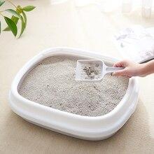 Переносная миска для кошачьего туалета, миска для туалета, большой средний размер для кошачьего туалета, тренировочная коробка для кошачьего туалета с совком для домашних животных Kitty