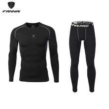 Men's Compression Set T Shirt Pants Sets Running Jogging Tights Workout Fitness Training Tracksuit Long Sleeve Shirts Sport Suit yd new compression tight basket soccer tracksuit men training fitness long sleeve shirt pants male gym running set sport suit
