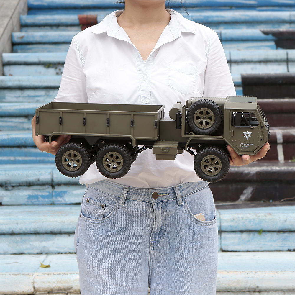 Fayee 1 12 2 4G 6WD 20km h Remote Control Military Truck US Army Military Truck