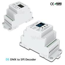 DC5V 12V 24V DS DMX512 signal to SPI Converter DMX decoder controller support 6803/8806/2811/2812/2801/3001/9813 IC