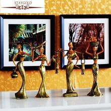 エスニック税関ホームファニッシング装飾樹脂工芸人装飾dai女の子シリーズヴィンテージ家の装飾