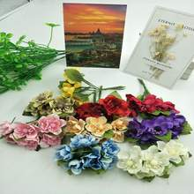 New 6 PC/lots of DIY car decoration simulates hand-made silk flower wedding ceremony, bridal bouquet cherry blossom(China)