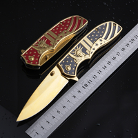 New Top Tactical Knives Folder 3CR13MOV Steel Blade Steel Handle Camping Hunting Pocket Knives Edc Multi