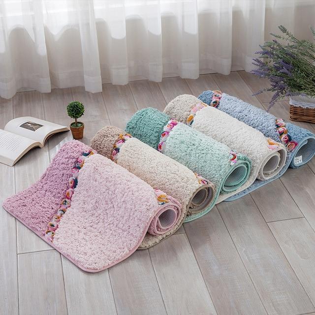 Mode Boden Teppich Rose Teppich Wohnzimmer Shaggy Teppiche Anti Skid