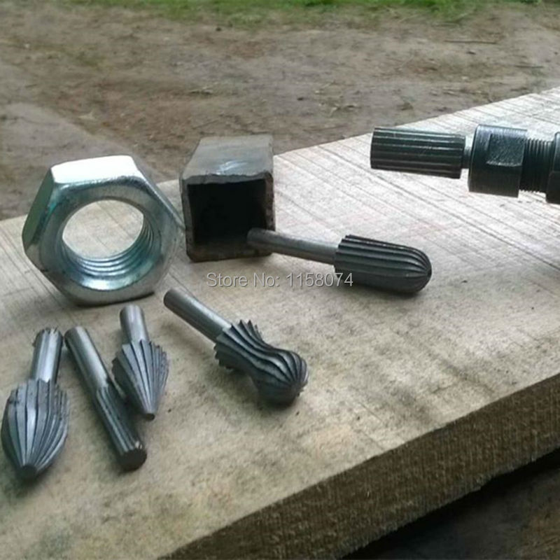 "6pc Hss Rotary File Rasp 1//4/"" 6mm Engraving Bit Burr Wood Metal Plastic Grinding"