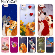 MaiYaCa Cartoon dog Lady and Tramp Colorful Phone Accessories Case for iphone 11 pro 8 7 66S Plus X 10 5S SE XS XR XS MAX cover(China)