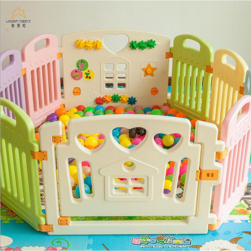 Retail 8 Size Baby Playpens Children Place Fence Kids Activity Gear Environmental Protection EP Safety Play Yard Indoor Outdoor
