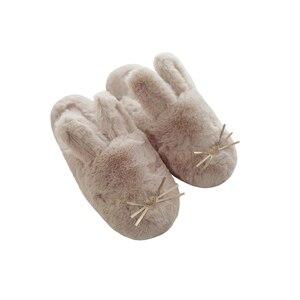 Image 5 - Женские домашние тапочки, теплая зимняя Милая домашняя обувь, комнатная обувь для взрослых, девочек, Дамская обувь на мягкой плоской подошве