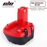 Batterie ELEOPTION 12 V 2000mAh ni-cd pour perceuse Bosch 12 V GSR 12 VE-2, GSB 12 VE-2, PSB 12 VE-2, BAT043 BAT045 BTA120 26073 35430