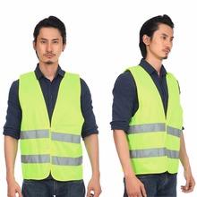 Reflective Waistcoat Fluorescent Vest Outdoor Safety Clothing Running Contest Vest Safe Light-Reflective Ventilate Vest