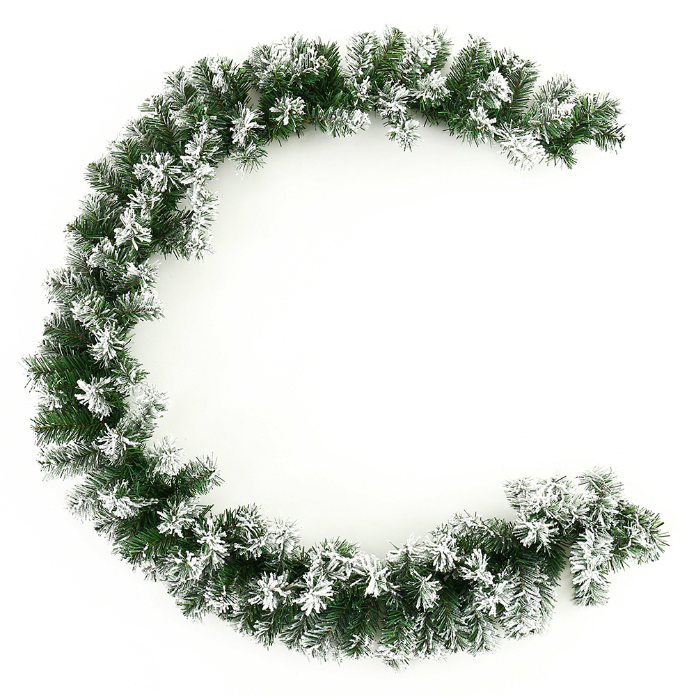 Us 16 07 Christmas Garland Green White Christmas Rattan Christmas Decoration Supplies Christmas Decorations For Home In Pendant Drop Ornaments