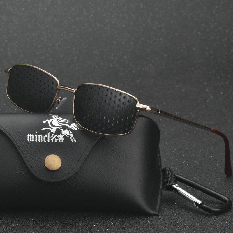 MINCL/ Anti Myopia Pinhole Glasses Pin Hole Sunglasses Eye