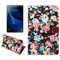 Мода Печатных ткань смарт Цветок Tablet Чехол Для Samsung Galaxy Tab A6 10.1 2016 T585 SM-T580 T580N принципиально случаях