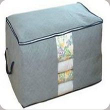 Free Shipping Bamboo Charcoal Clothes Storage Bag Quilt Sweater Blanket Closet Transparent Inspection Receive Storage Box F0635