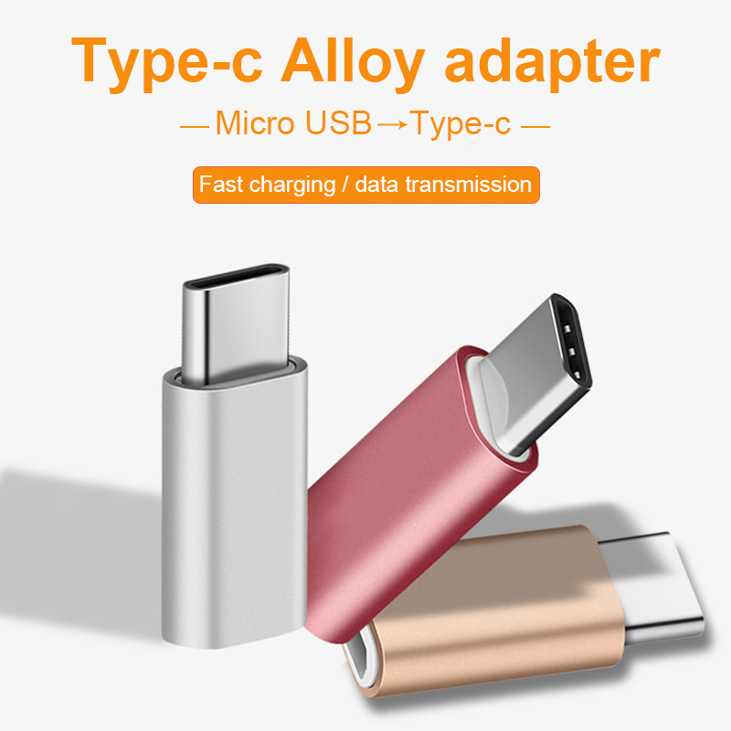 Mini USB Type-C Male To Micro USB Female Usbc Adapter Conventer Adaptor Connector For Support Charging Data Transmission Xiomi