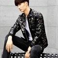 Мужская кожаная весна ветровка универсал куртка tide бренда камуфляж пальто мужские кожаные куртки осень мужской личности