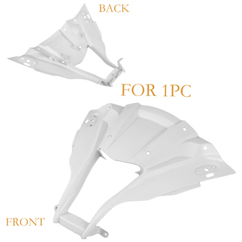 GZYF Motorcycle Upper Front Fairing For KAWASAKI NINJA ZX10R 2011 2012 Unpainted White Injection Mold 1 Piece