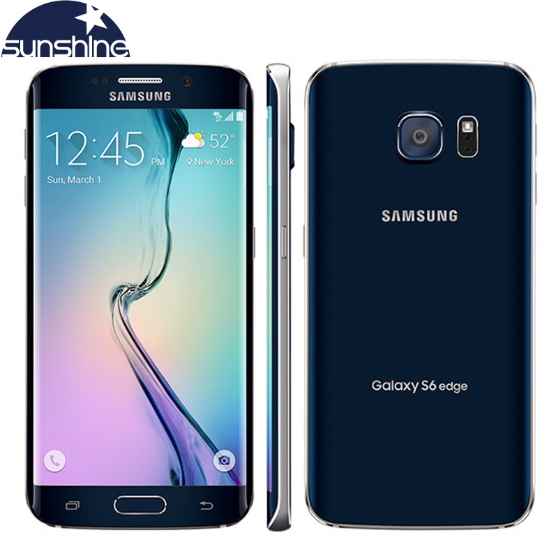 Original Unlocked Samsung Galaxy S6 Edge LTE Mobile Phone Octa Core 5.116.0MP 3G RAM 32GROM NFC Cell Phone