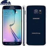 Originele Ontgrendeld Samsung Galaxy S6 Edge LTE Mobiele Telefoon Octa Core 5.1