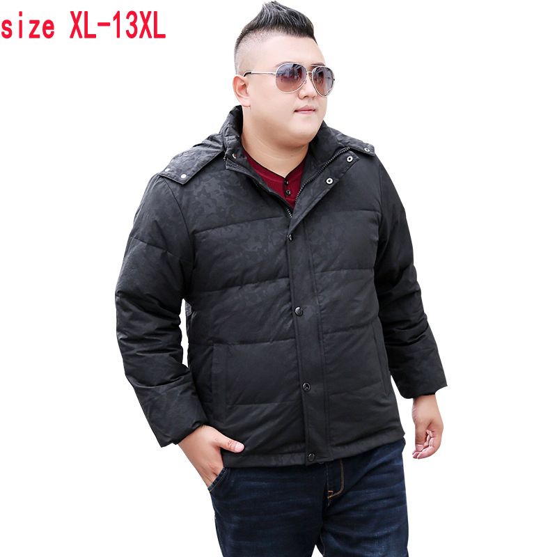 100% Wahr Neue Hohe Qualität Kurze Männer Modische Extra Große Mantel Weiße Ente Unten Dick Casual Unten Jacke Männer Plus Größe Xl-11xl12xl13xl