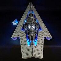 Светодиодный комплект для Lego Star Wars 10221 lego Звездный Разрушитель строительные блоки Совместимые части игрушек 05028 (светодиодный свет + батарей