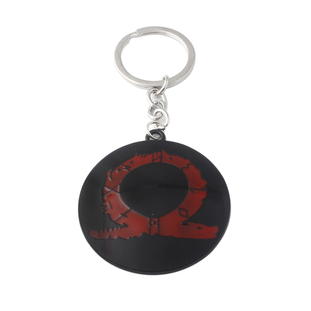 God of War 4 Kratos Keychain Metal Pendant Game Logo Key Chain Women Men Fans keyring Jewelry Accessories