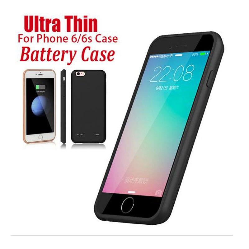 bilder für 2500/3700 mAh Ladegerät Fall Für iPhone 6 6 s 7 Externe Batterie Fall abdeckung Für iPhone 6 Plus 6 S Plus 7 Plus Energienbank Fall
