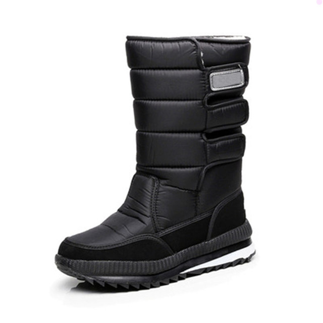 2017 snow boots Shoes men waterproof men's Winter boots Shoes outdoor warm Mans footwear fashion work shoes 3