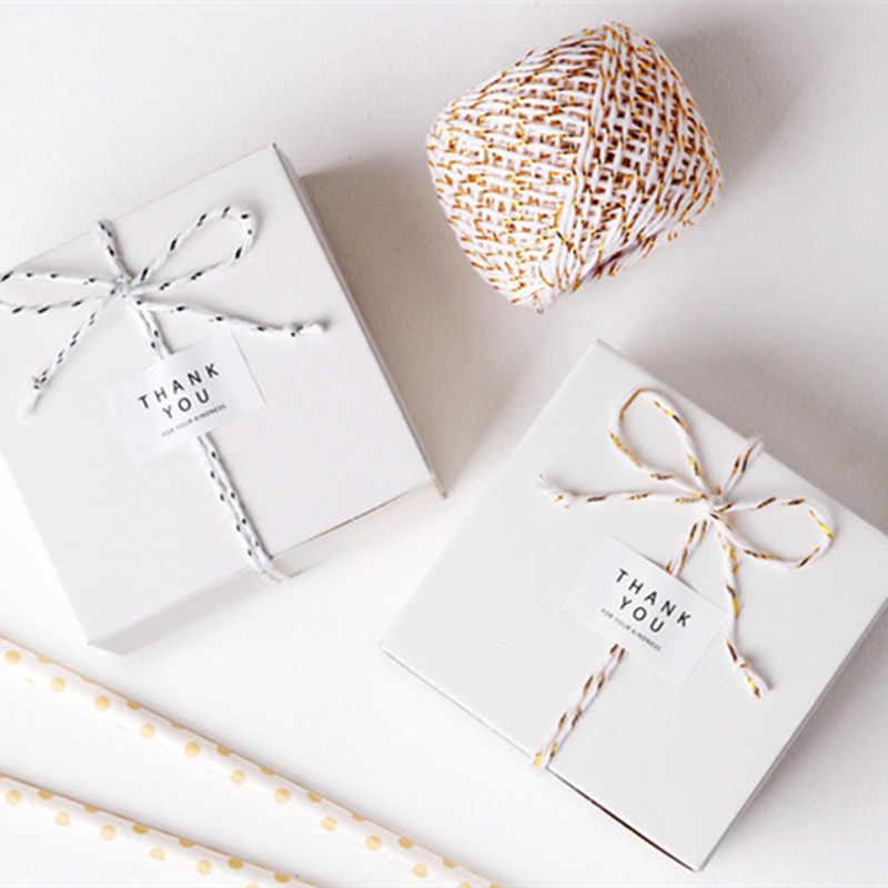 Neue 20 m Natürliche 4 farben Box Seil Floral Papier Seil Geschenk String Handwerk Hochzeit Geburtstag Party Tags Wrap Dekoration partei Liefert