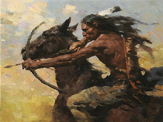 Special Offer 2017 NEW Western Art Oil Painting American Natives Indian Hunting 100 Hand Painted 24x36 Free Shipping Cost In Calligraphy From