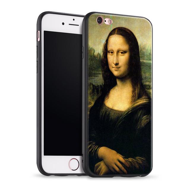 Mona Lisa Smile pintura coque suave silicona teléfono funda cubierta para Apple iPhone 5 5S Se 6 6 S 7 8 más X XR XS MAX