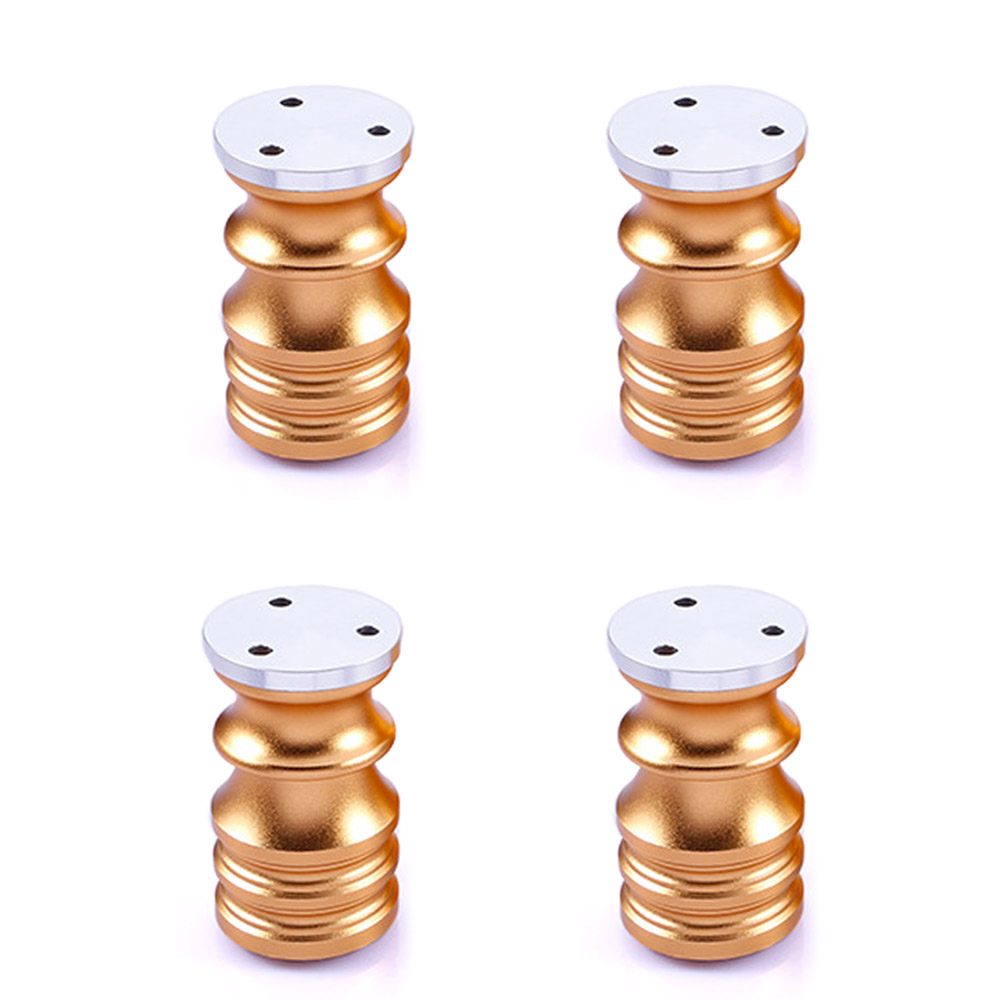 80mm Aluminum Alloy Furniture Legs Table Bed Sofa Cabinet Feet Adjustable 6mm Golden Pack of 4 bqlzr 80x85mm round silver black adjustable stainless steel plastic furniture legs sofa bed cupboard cabinet table bench feet