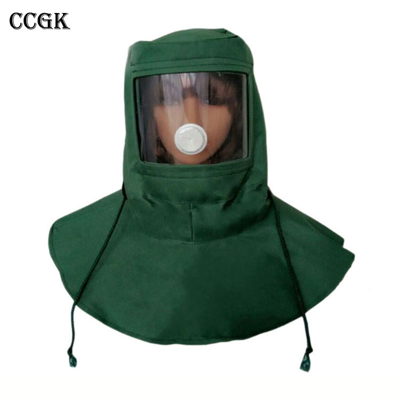 CCGK Painting Protective Mask Dustproof Hood Spray Sandblasting Protective Cap Industrial Polished Labor Hat Anti Dust Equipment 3m 9502 dust masks n95 anti particulate matter anti pm2 5 smog protective industrial dust influenza virus mask h012912