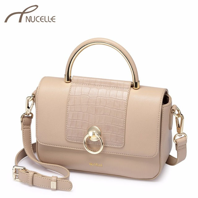 NUCELLE Women s Leather Handbags Ladies Fashion Alligator Brand Tote Purse  Female Leisure Crocodile Grain Flap Crossbody Bags a90ad75f1609a