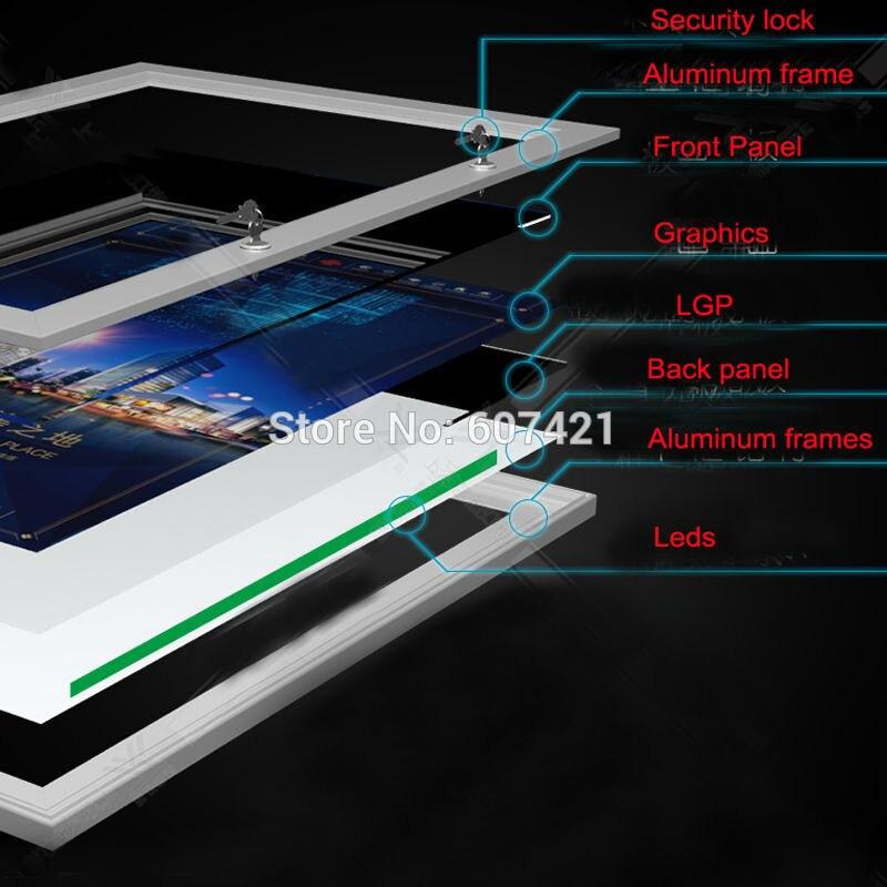 24 x35 4 Singles Side Outdoor Weatherproof Lockable LED Menu Lightbox Poster Display Lightbox Led Backlit