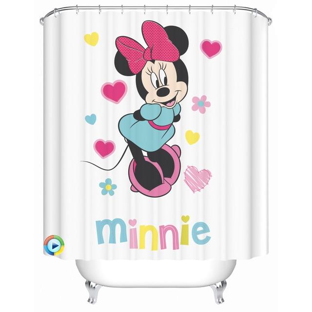 Shower Curtains American Mickey Cartoon Waterproof Curtain Mildew Bathroom Cut Off Bath