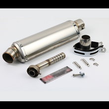 38-48mm Universal Motorcycle Silencer Silp On 440mm Exhaust Muffler Pipe With Removable DB Killer