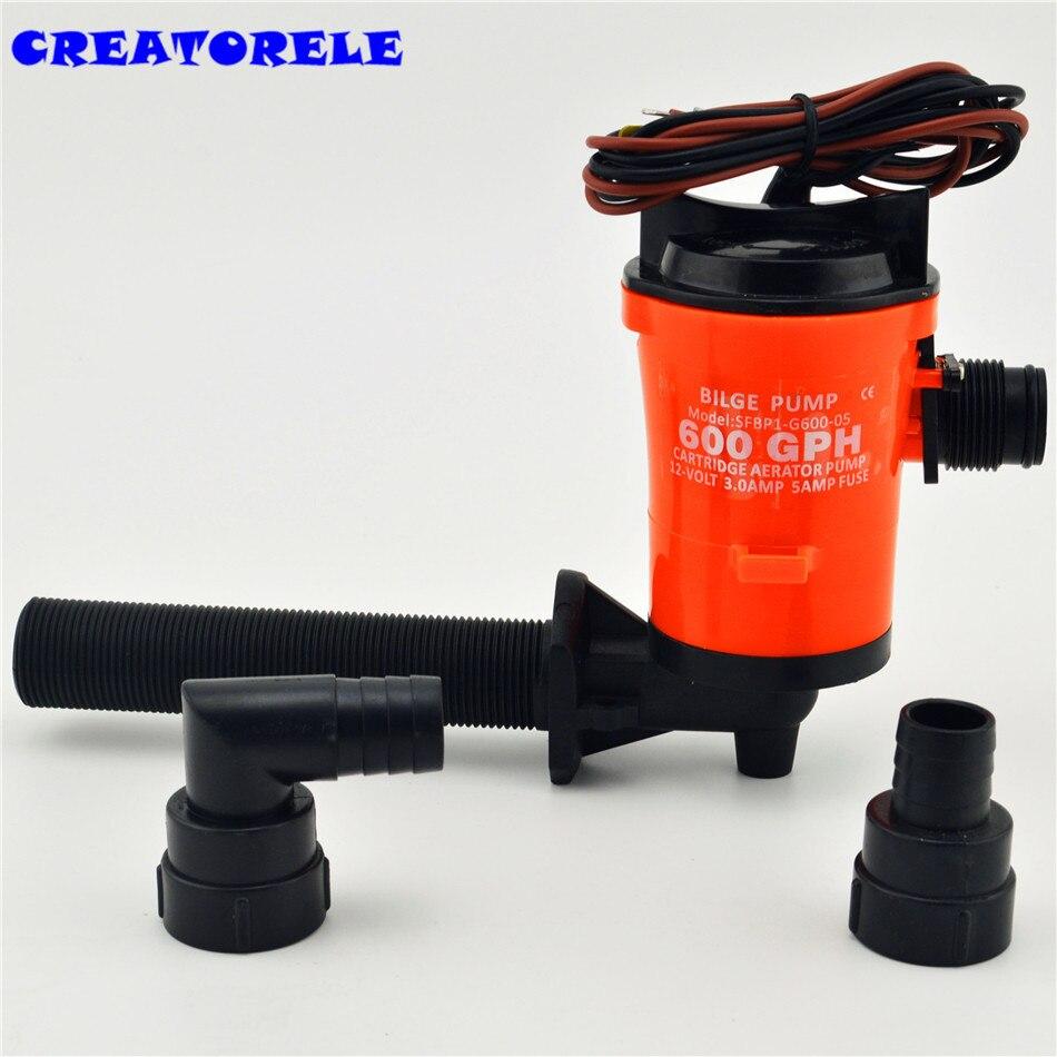 350gph 12 v tuyau pompe de cale à main ruIe système d'interrupteur à flotteur à faible courant instructions de transfert