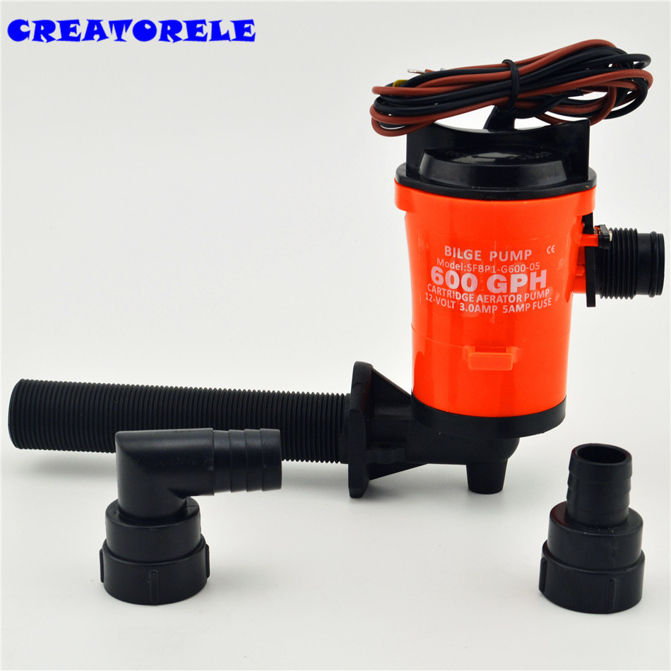 US $39 85 5% OFF| 350gph 12v hose hand bilge pump ruIe low current draw  Float Switch System Instruction instructions transfer-in Pumps from Home
