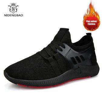 5e7e6d64 Мужские кроссовки зимние плюшевые кроссовки Zapatillas Deportivas Hombre  дышащая повседневная обувь Sapato Masculino Krasovki