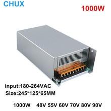 цена на 1000W Switching Power Supply 48v 55v 60v 70v 80v 90v 110v DC to AC Single Output LED Transformer input AC110V or 220V  SMPS