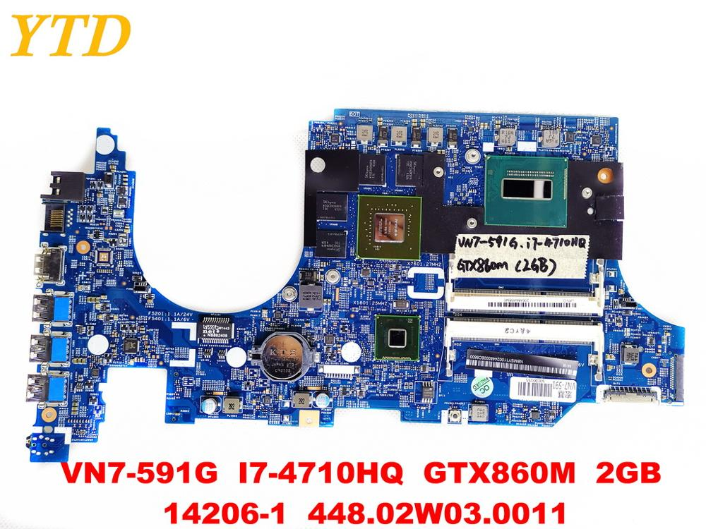 Original for font b ACER b font VN7 591 laptop motherboard VN7 591G I7 4710HQ GTX860M
