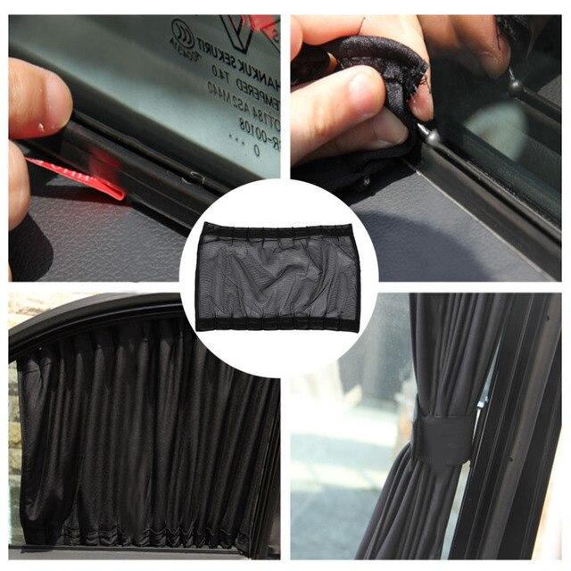 Car Sun Shade Window SunShade Drape Visor Valance Curtain Windshield Sunshade Adjustable Foldable Car Styling
