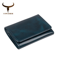 COWATHER 100 Top Cow Genuine Leather Wallets For Men Purse High Quality Cow Leather Male Wallet