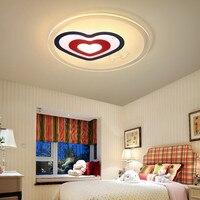 modern heart shaped LED ceiling lamp office lamp study restaurant round children's room bedroom lighting light ZA10307