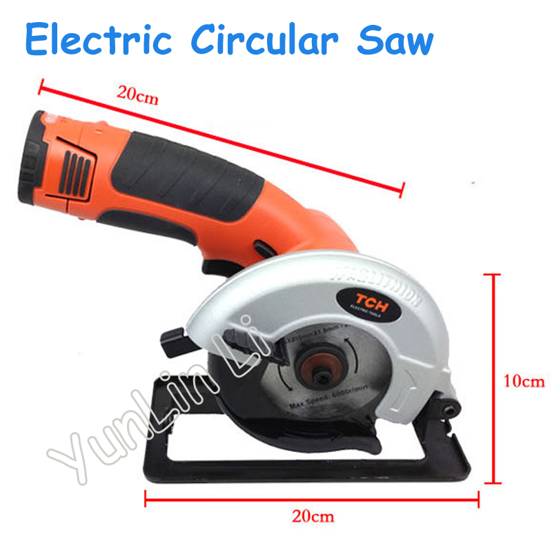 Handheld Wood Saw Electric Ceramic Tile Circular Saw Charging 12V Woodworking Tools Wood Cutting Machine Plastic Cutter M9187 10 254mm diameter 80 teeth tools for woodworking cutting circular saw blade cutting wood solid bar rod free shipping